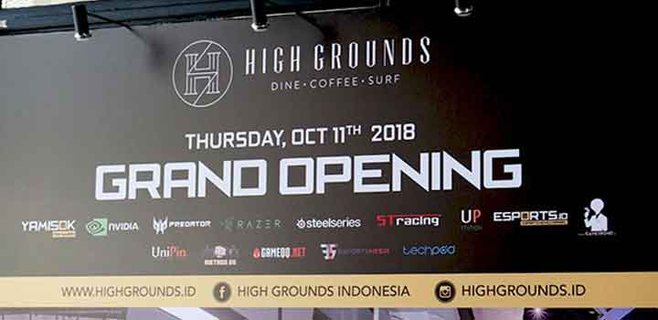 Grand Opening High Grounds Cafe Indonesia