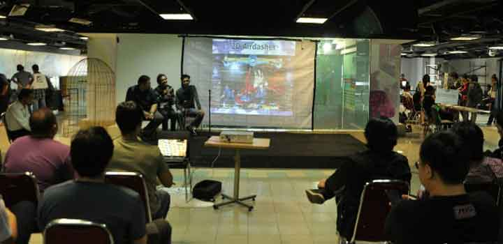 Diskusi panel di Road to Kaori Expo tentang game fighting