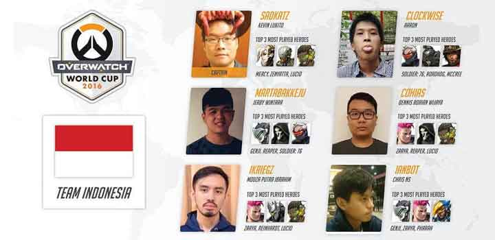 Overwatch World Cup Team Indonesia 2016