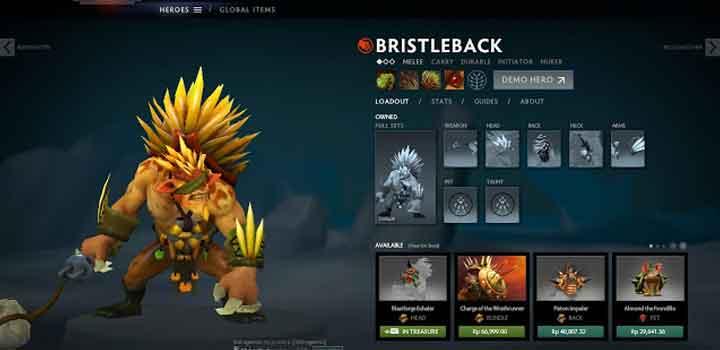 Dota 2 Bristleback Set