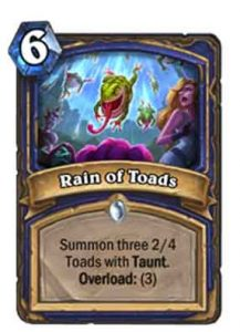 Rain of Toads | Hearthstone | Rastakhan's Rumble