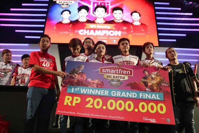 Opi Gaming 1st Winner Grand Final Smartfren 4G Battle