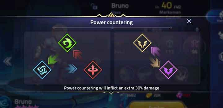 Power countering Mobile Legends: Adventure