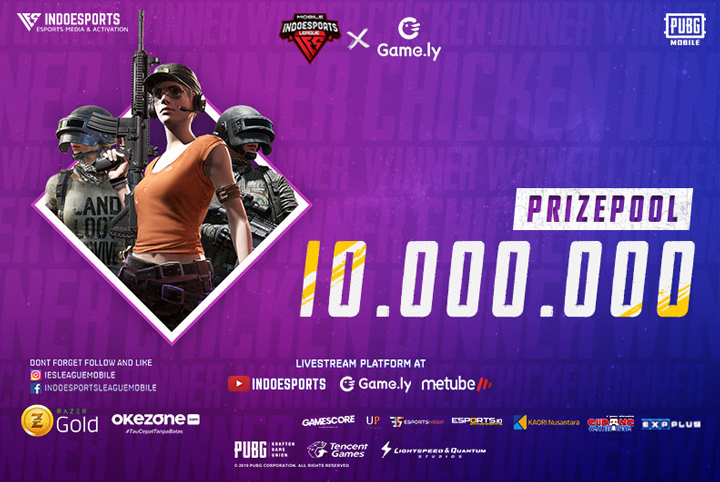 Prizepool Turnamen PUBG Mobile INDOESPORTS League Mobile X Game.ly