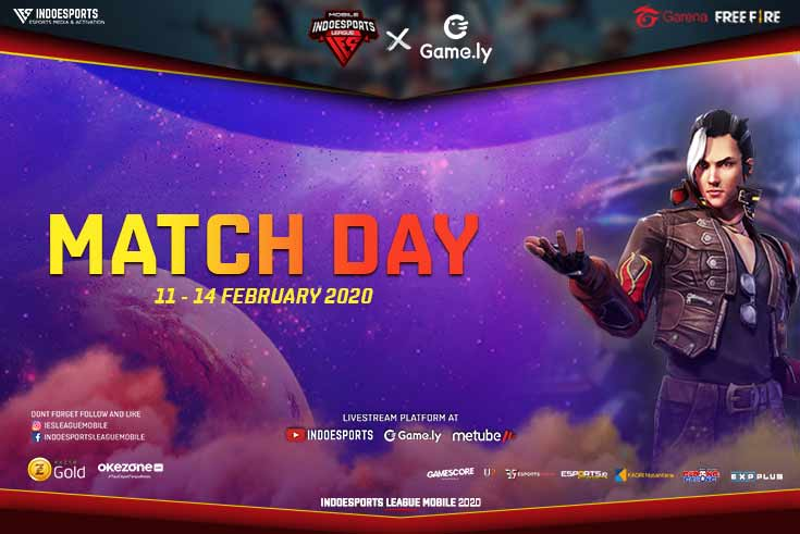 Match day Registrasi INDOESPORTS League Mobile x Game.ly Free Fire Season 1