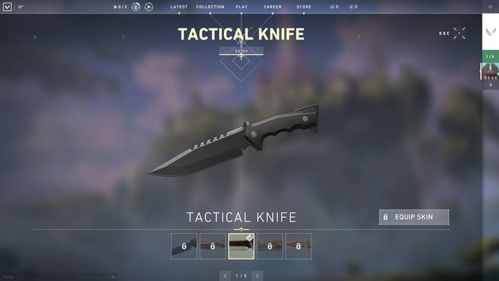 valorant weapon knife