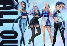 Virtual Girldband K/DA Luncurkan EP Pertamanya Berjudul ALL OUT
