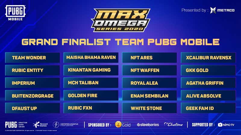 Grand Finalist PUBG Mobile Max Omega Series 2020